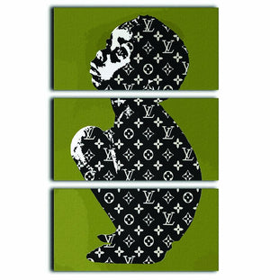 Banksy Louis Vuitton Kid 3 Split Panel Canvas Print - Canvas Art Rocks - 1