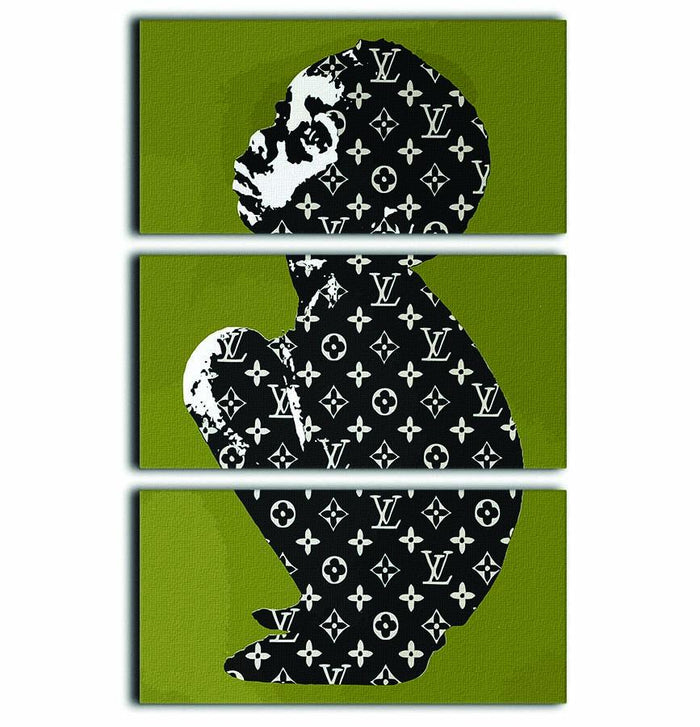 Banksy Louis Vuitton Kid 3 Split Panel Canvas Print