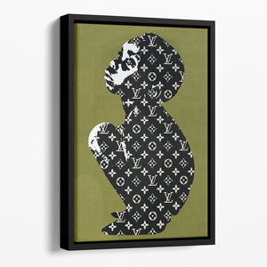 Banksy Louis Vuitton Kid Floating Framed Canvas