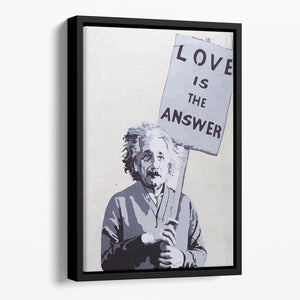Banksy Love Is The Answer Floating Framed Canvas