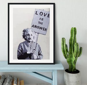 Banksy Love Is The Answer Framed Print - Canvas Art Rocks - 1