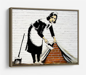 Banksy Maid Sweeping Under The Carpet HD Metal Print