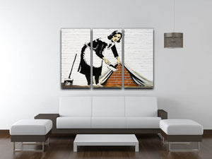 Banksy Sweeping Maid 3 Split Canvas Print - Canvas Art Rocks