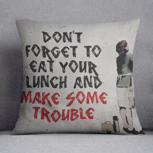 Banksy Make Some Trouble Cushion