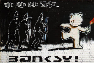 Banksy Mild Mild West Wall Mural Wallpaper - Canvas Art Rocks - 1