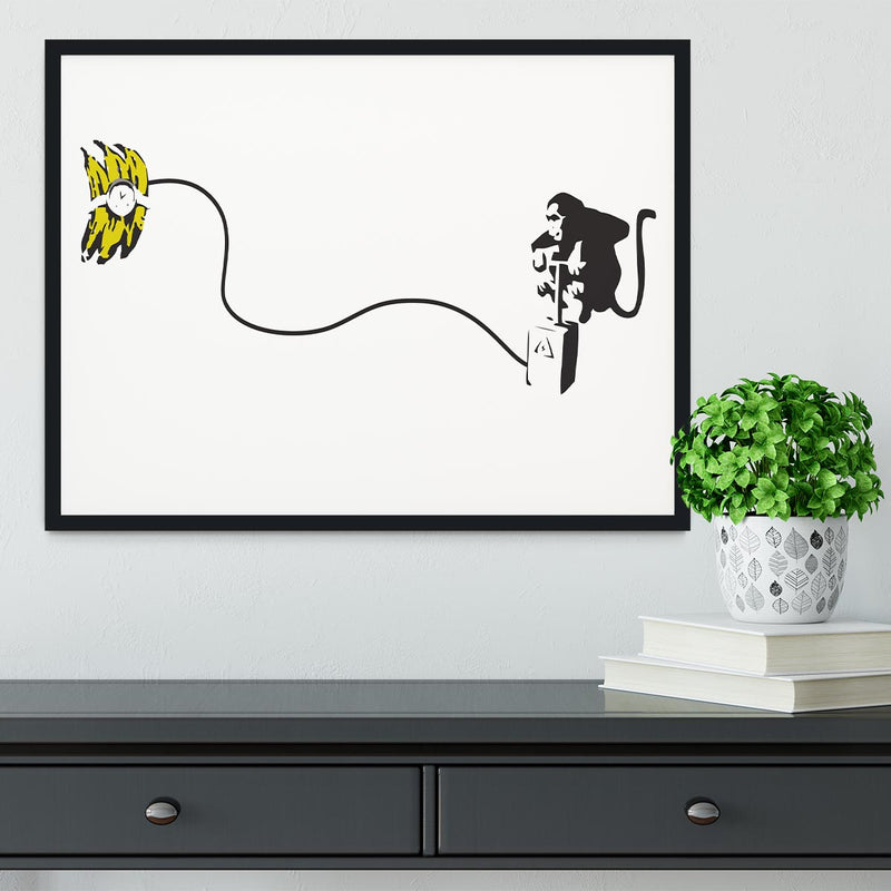 Banksy Monkey Banana Bomb Framed Print - Canvas Art Rocks - 2