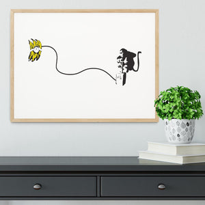 Banksy Monkey Banana Bomb Framed Print - Canvas Art Rocks - 3