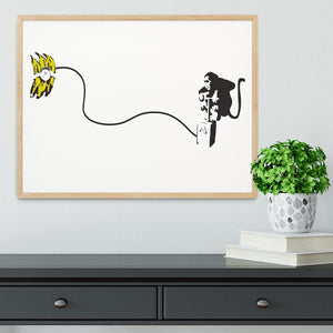 Banksy Monkey Banana Bomb Framed Print - Canvas Art Rocks - 4