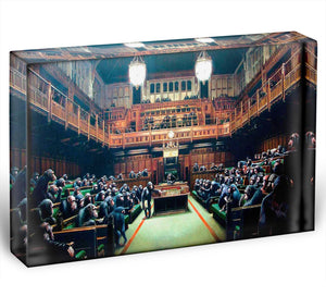 Banksy Monkey Parliament Acrylic Block - Canvas Art Rocks - 1