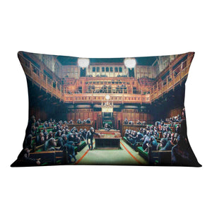 Banksy Monkey Parliament Cushion