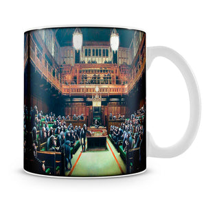 Banksy Monkey Parliament Mug - Canvas Art Rocks