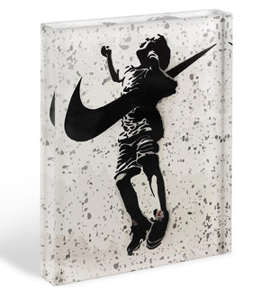 Banksy Nike Acrylic Block - Canvas Art Rocks - 1