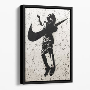 Banksy Nike Floating Framed Canvas