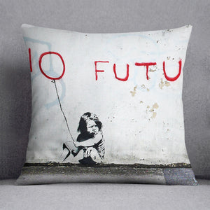 Banksy No Future Cushion