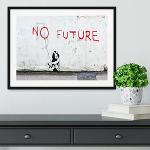 Banksy No Future Framed Print - Canvas Art Rocks - 1
