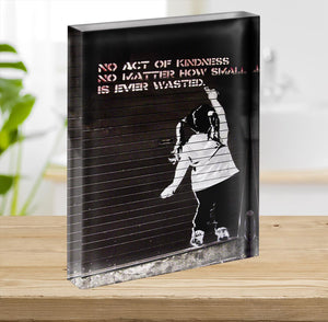 Banksy No Kindness Acrylic Block - Canvas Art Rocks - 2
