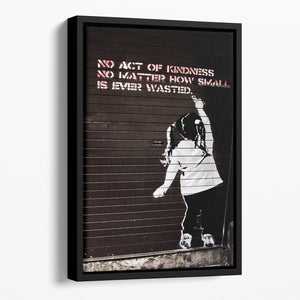 Banksy No Kindness Floating Framed Canvas