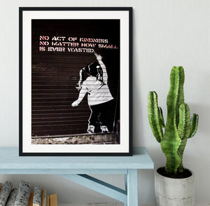 Banksy No Kindness Framed Print - Canvas Art Rocks - 1