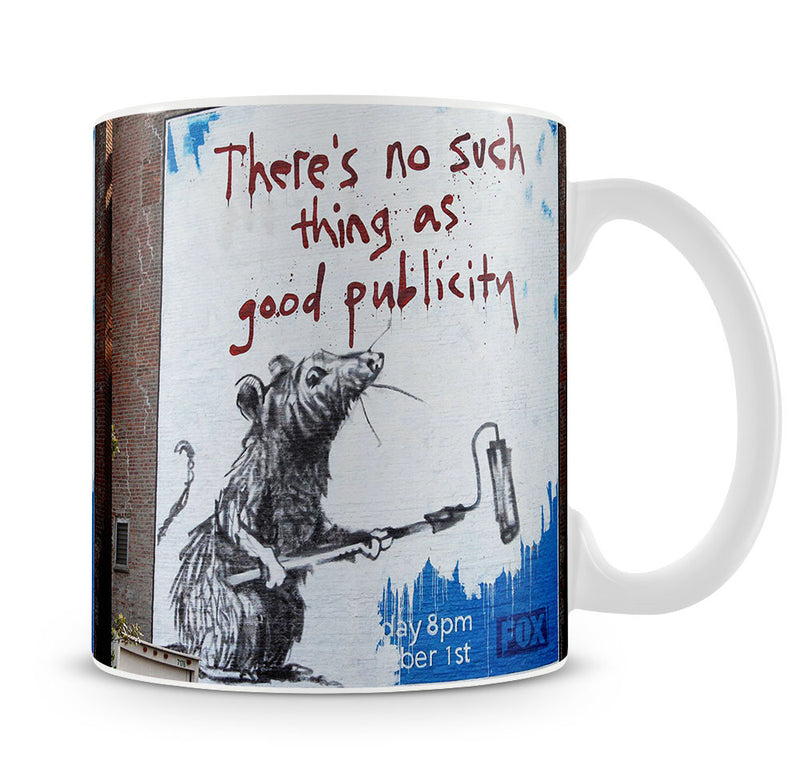 Banksy No Such Thing As Good Publicity Mug - Canvas Art Rocks