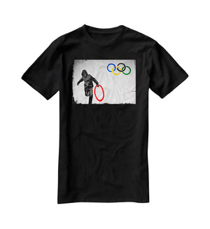 Banksy Olympic Rings Looter T-Shirt - Canvas Art Rocks - 1