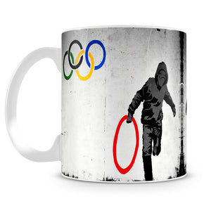 Banksy Olympic Rings Looter Mug - Canvas Art Rocks