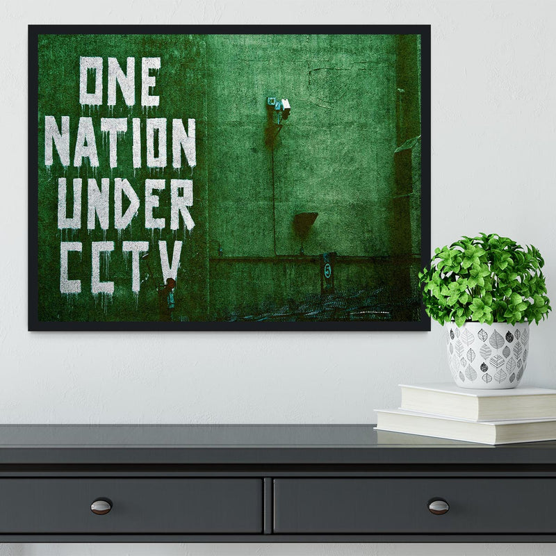Banksy One Nation Under CCTV Framed Print - Canvas Art Rocks - 2