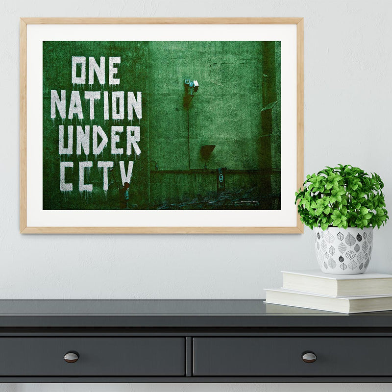 Banksy One Nation Under CCTV Framed Print - Canvas Art Rocks - 3