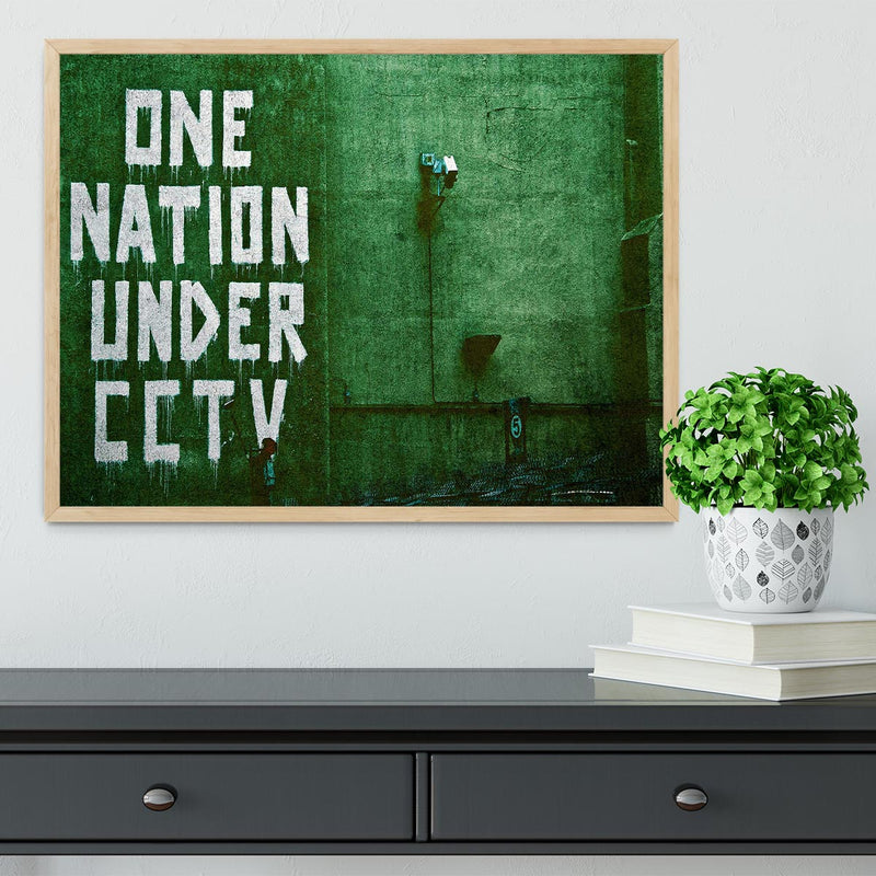Banksy One Nation Under CCTV Framed Print - Canvas Art Rocks - 4