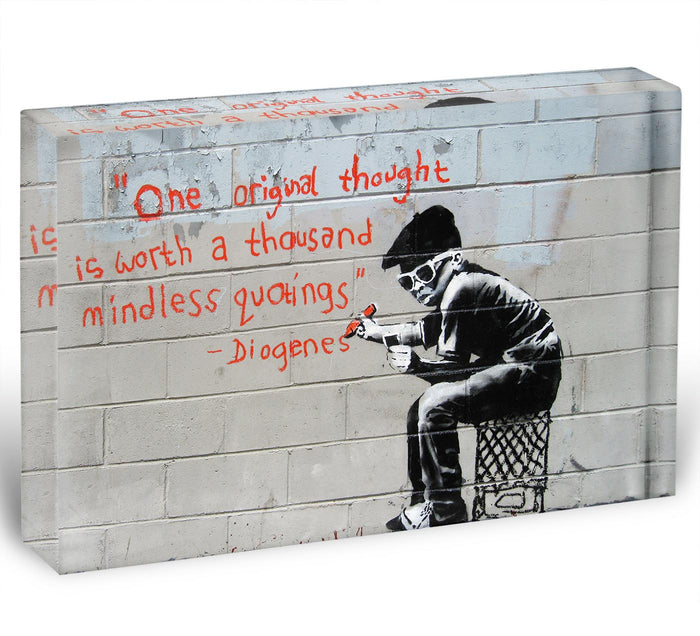 Banksy One Original Thought Acrylic Block