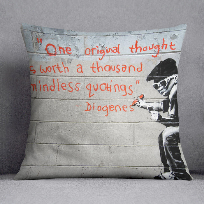 Banksy One Original Thought Cushion