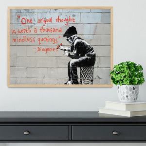 Banksy One Original Thought Framed Print - Canvas Art Rocks - 4
