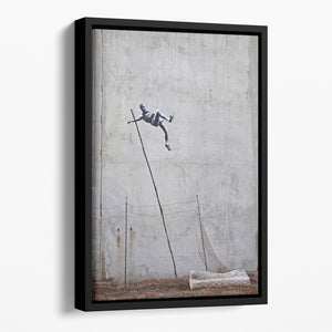 Banksy Pole Vaulter Floating Framed Canvas