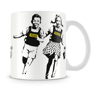 Banksy Police Kids Mug - Canvas Art Rocks