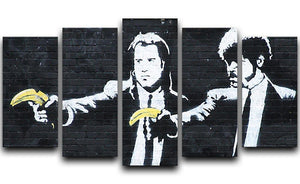 Banksy Pulp Fiction Banana Guns 5 Split Panel Canvas  - Canvas Art Rocks - 1