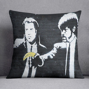 Banksy Pulp Fiction Banana Guns Cushion