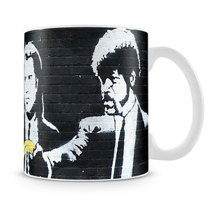 Banksy Pulp Fiction Banana Guns Mug - Canvas Art Rocks