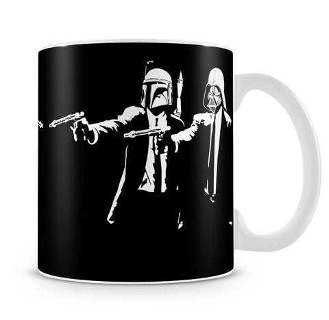 Banksy Pulp Fiction Star Wars Mug