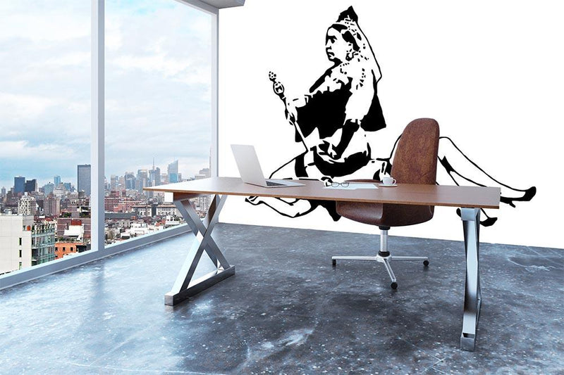 Banksy Queen Victoria Wall Mural Wallpaper - Canvas Art Rocks - 3
