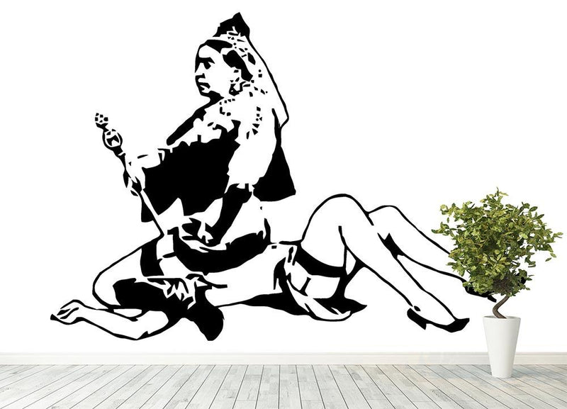 Banksy Queen Victoria Wall Mural Wallpaper - Canvas Art Rocks - 4