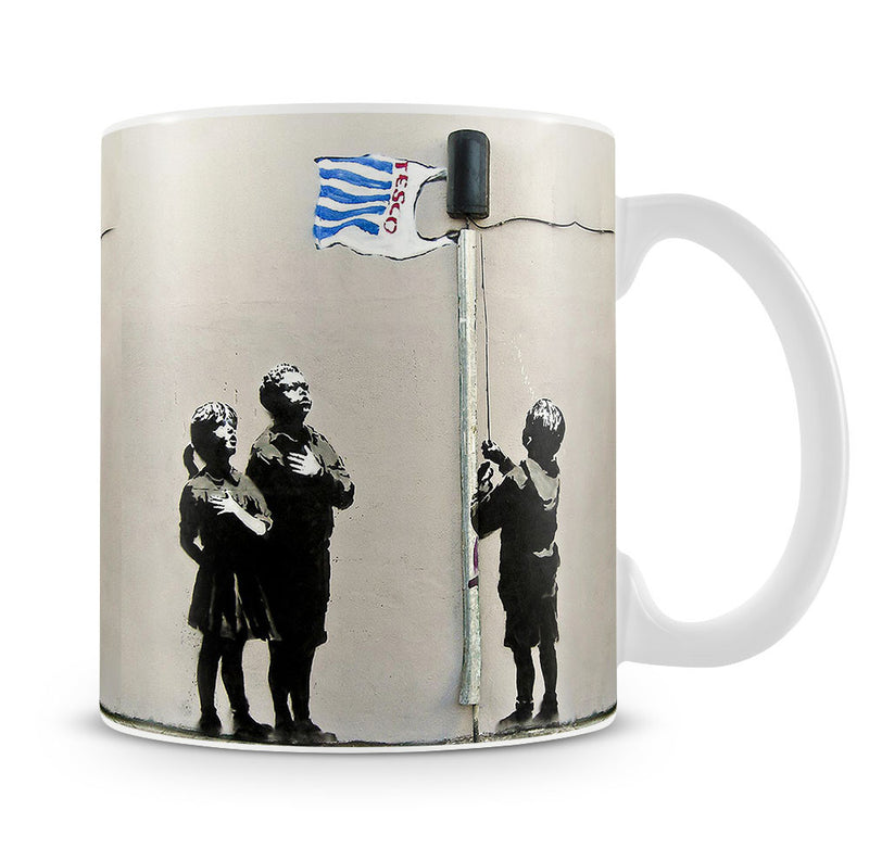 Banksy Raising the Tesco Flag Mug - Canvas Art Rocks