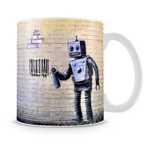 Banksy Robot Mug - Canvas Art Rocks
