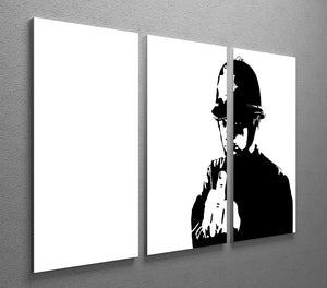 Banksy Rude Policeman 3 Split Panel Canvas Print - Canvas Art Rocks