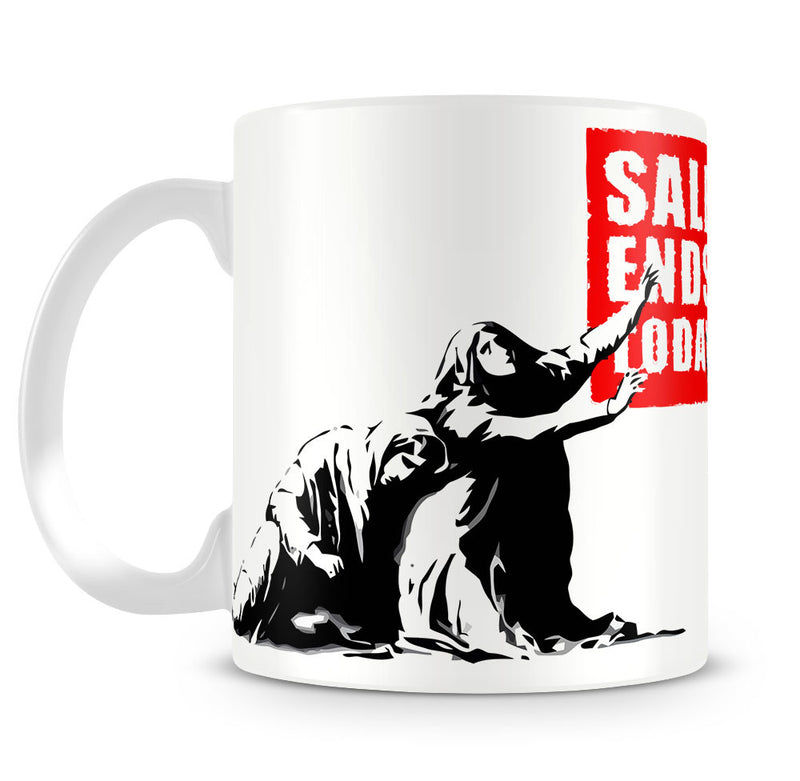 Banksy Sale Ends Today Mug - Canvas Art Rocks