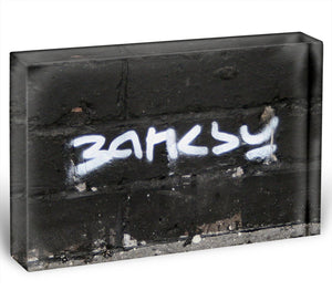 Banksy Signature Tag Acrylic Block - Canvas Art Rocks - 1