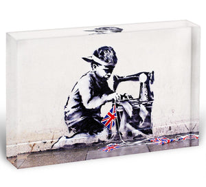 Banksy Slave Labour Acrylic Block - Canvas Art Rocks - 1