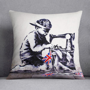 Banksy Slave Labour Cushion
