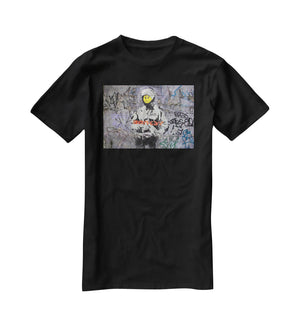 Banksy Smiley Riot Cop T-Shirt - Canvas Art Rocks - 1