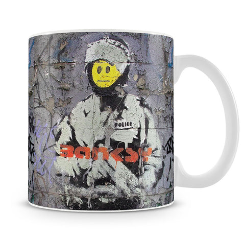 Banksy Smiley Riot Cop Mug