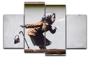 Banksy Sneezing Woman 4 Split Panel Canvas - Canvas Art Rocks - 1