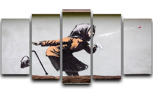 Banksy Sneezing Woman 5 Split Panel Canvas - Canvas Art Rocks - 1